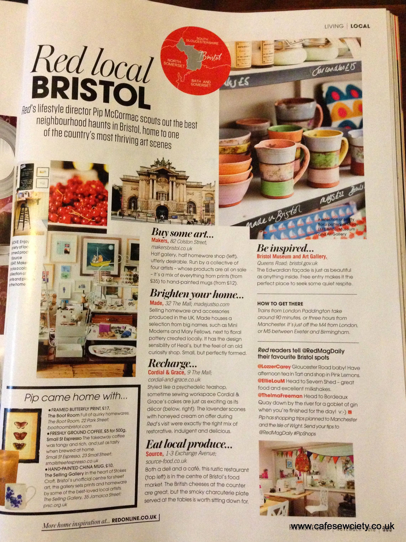Red magazine - Red Local Bristol, Oct 2013