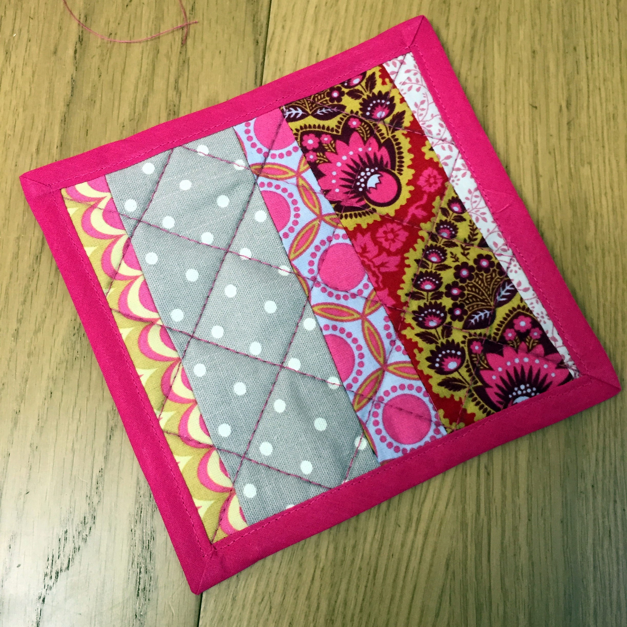 Patchwork Pot Holder - Introduction to Patchwork Quilting