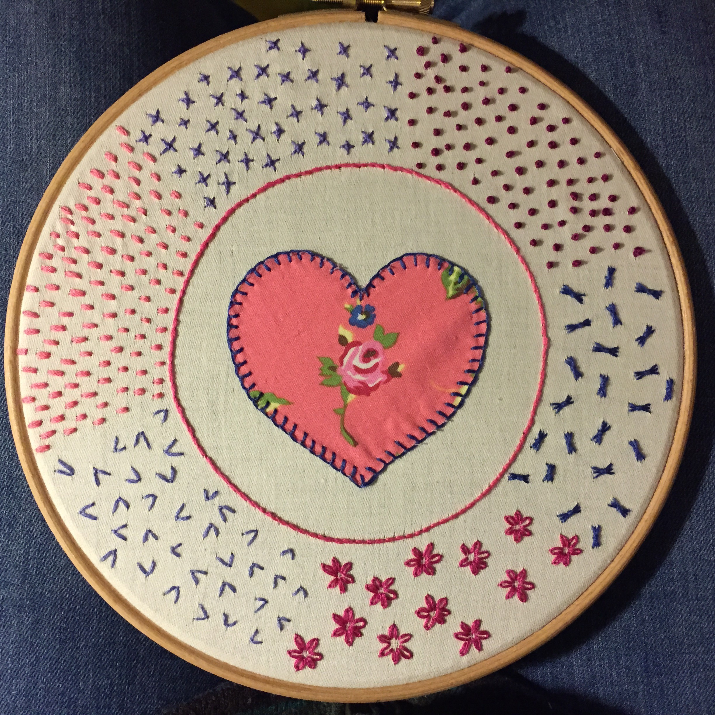 Embroidery Hoop Sampler - Hand Sewing
